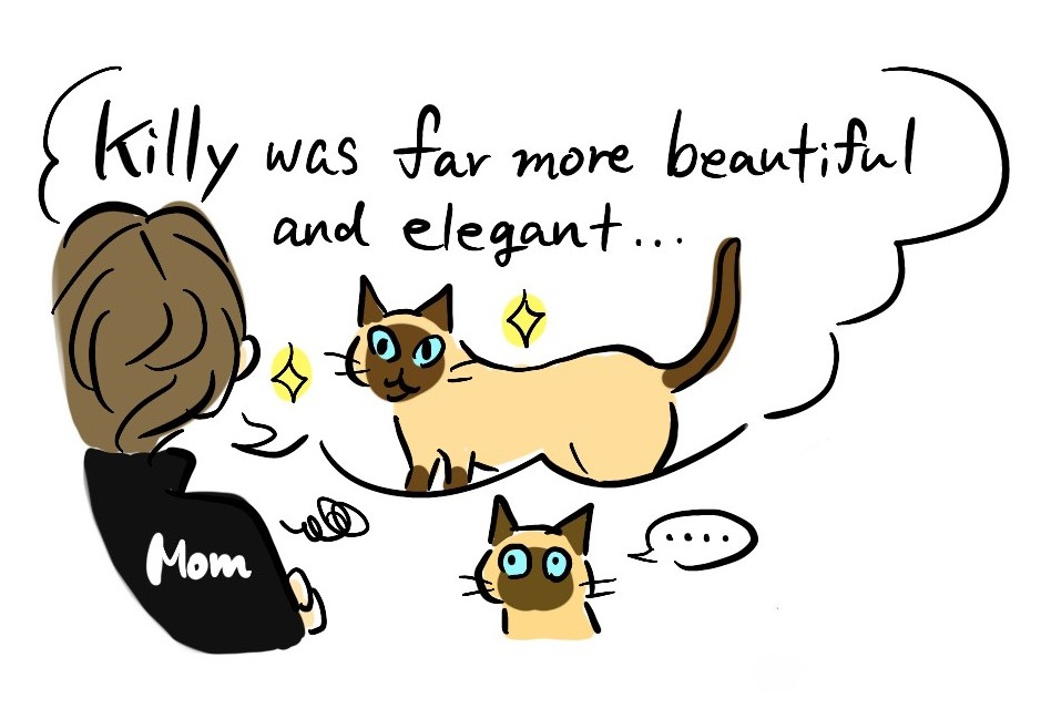 "mom said ""Killy was far more beautiful and elegant"""