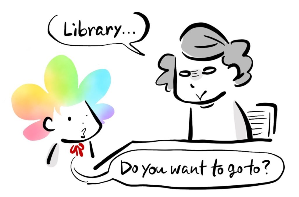 -Library... -Do you want to go to?